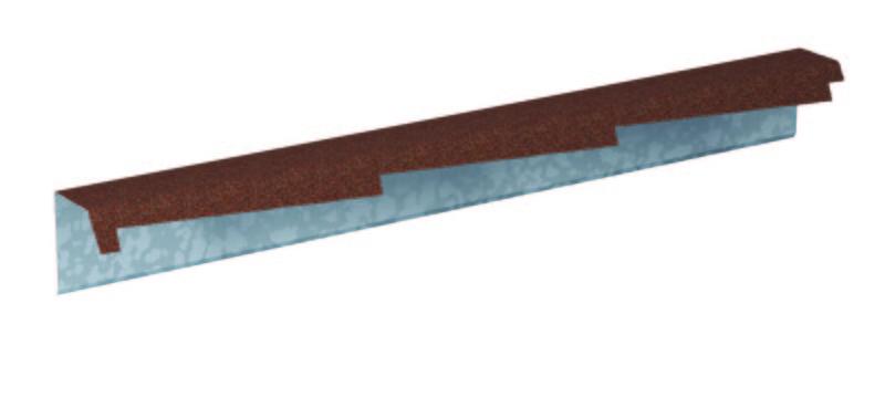 Štítová lišta profilovaná výška 140 mm levá