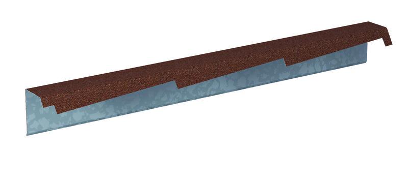 Štítová lišta profilovaná DIAMANT výška 140 mm pravá