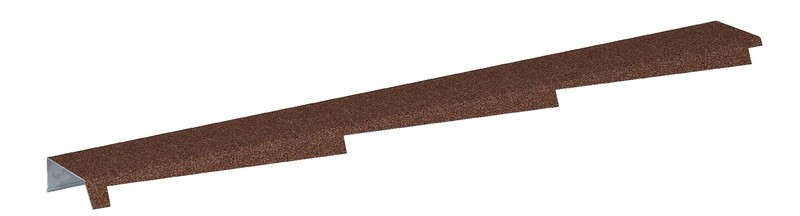 Štítová lišta profilovaná DIAMANT výška 50 mm levá